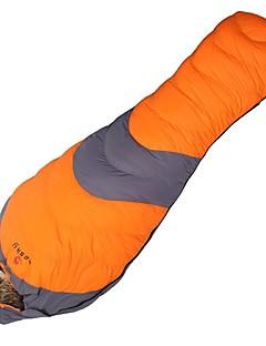 Saco de dormir Tipo Múmia Solteiro (L150 cm x C200 cm) -10°C Penas de Pato 1000g 210 X 80 Campismo / ExteriorPermeável á Humidade / Á