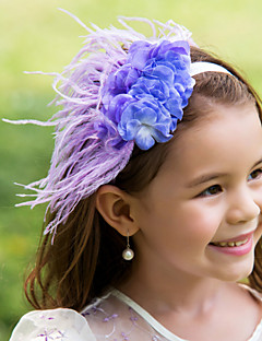 Flower Girl's Feather Headpiece - Wedding/Special Occasion Flowers