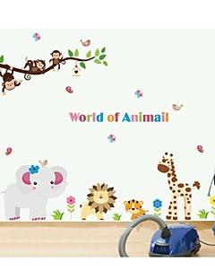 jiubai® Cartoon Tier Affe Kinderzimmer Dekoration Wandaufkleber Wandtattoo