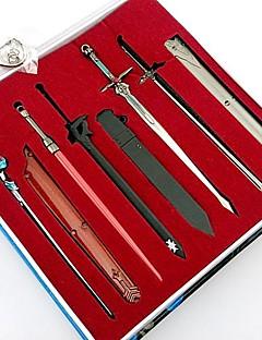 zwaard art online sao Kirito Asuna zwaard en schede 8 stuks sleutelhanger set (8 stuks)