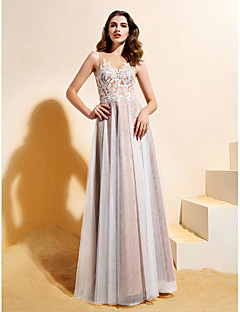 Lanting Bride Lanting A-line/Princess Wedding Dress Floor-length Jewel Lace / Tulle