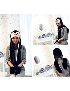 Unisex Long Section  Cute Penguin   Warm Fuzzy Kigurumi Aminal Beanie