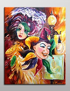 pintura al óleo pintada a mano de personas abstracta con el marco de estirado listo para colgar
