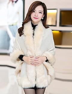 solta outerwear moda pele de raposa das mulheres zian®