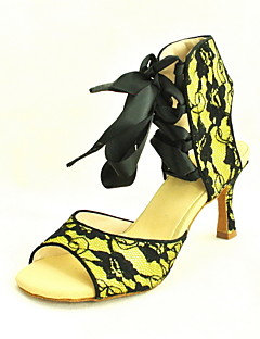 Customized Women's Lace Ankle Strap Latin / Ballroom Dance Shoes With Ribbon (More Colors)