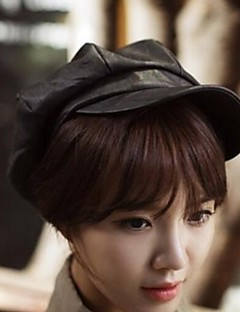 Women Leather Beret Hat , Work/Casual All Seasons