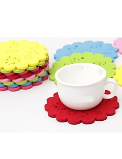 "High Temperature Resistant Heat Insulation Cup Mat Durable Non-woven MATS 11x11x0.5cm/ 4.2""x4.2""x0.25""(Color Random)"