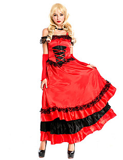 Cosplay Costumes / Party Costume Hot/Crazy Spanish Dance Dress Red Terylene Halloween Costume