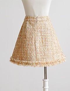 De dabuwawa damesmode slanke wollen rok