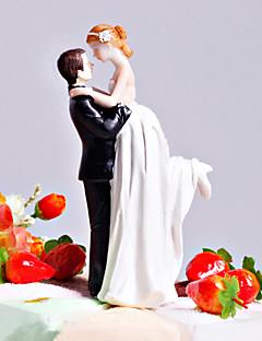 "Cake Toppers ""Love Swept"" Bride & Groom  Cake Topper"
