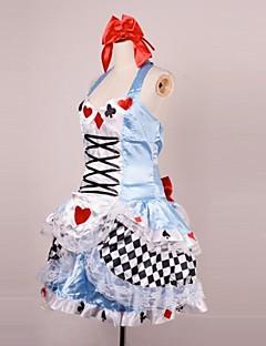alice poker maniche&backless raso uniformi cameriera