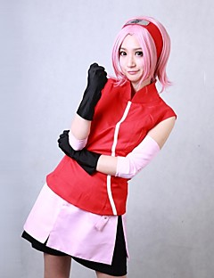 Shippuden Naruto Sakura Haruno cosplay dräkt
