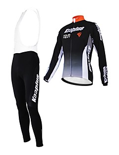 Kooplus Camisa com Calça Bretelle Mulheres Homens Unisexo Manga Comprida Moto Camisa/Roupas Para Esporte Tights Bib Conjuntos de Roupas
