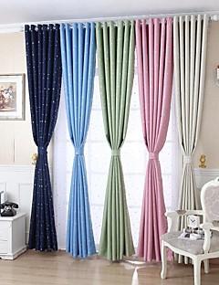 Room Darkening Printing Little Star Curtain (Two Panel)