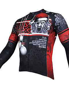 PaladinSport Men's Long Sleeve Cycling Jersey New Style CX090 Black Christmas 00% Polyester