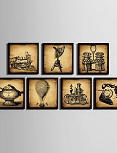 Csendélet Bekeretezett vászon / Bekeretezett szett Wall Art,PVC Fekete Háttéranyag nélkül a Frame Wall Art