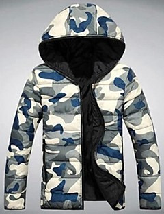 MANWAN WALK®Men's Casual Slim Military Camo Hooded Jacket.Thick Warm Down Coat.Size S-3XL!