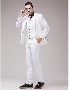White Serge Slim Fit Three-Piece Suit