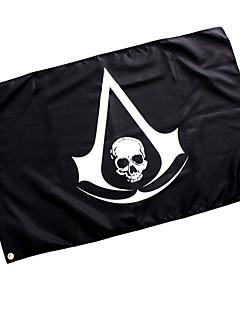 Περισσότερα Αξεσουάρ Εμπνευσμένη από Assassin's Creed Cosplay Anime/ Βιντεοπαιχνίδια Αξεσουάρ για Στολές Ηρώων Σημαία Μαύρο Μάλλινο