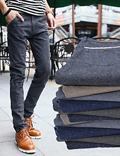 DOITNOW  Trend of men's casual straight cotton trousers 666
