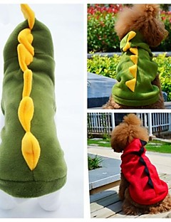 Cat / Dog Costume / Hoodie / Outfits Red / Green Dog Clothes Winter / Spring/Fall Animal Wedding / Cosplay / Halloween