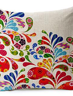 teste padrão colorido abstrato algodão / fronha decorativo linho