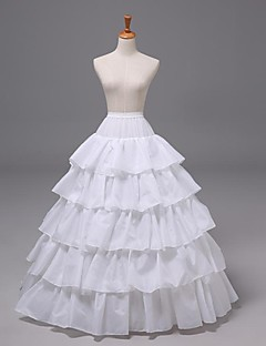 Wedding 5 Tiers Floor-length Nylon Petticoats Slips