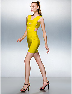 TS Couture® Dress - Daffodil Petite Sheath/Column V-neck Short/Mini Silk