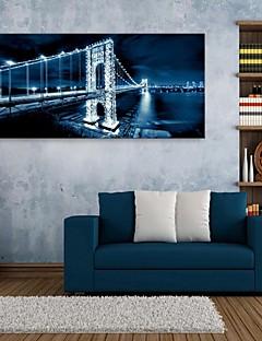 e-Home® gestrekt geleid canvas art brug flash effect geleid