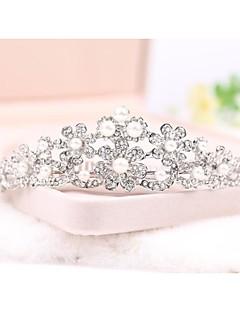 morsiamen häät prinsessa näytelmä kävelyttää kristalli tiara kruunu panta