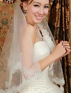 레이스 한 타이어 팔꿈치 신부의 베일은 모조 다이아몬드 asv30 트림