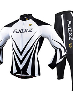 FJQXZ Cycling Jersey with Tights Men's Long Sleeve Bike Breathable Quick Dry Ultraviolet Resistant 3D PadTights Jersey +