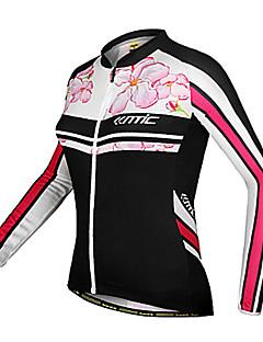 SANTIC® Camisa para Ciclismo Mulheres Manga Comprida MotoRespirável / Mantenha Quente / A Prova de Vento / Design Anatômico / Resistente