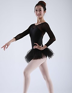 Ballet Tops / Dresses&Skirts / Tutus Women's Chiffon / Spandex Ballet / Performance Long Sleeve