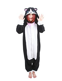 Kigurumi Pajamas Cat Leotard/Onesie Festival/Holiday Animal Sleepwear Halloween Patchwork Polar Fleece Kigurumi For UnisexHalloween