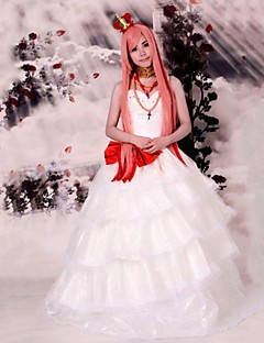 Inspired by Vocaloid Megurine Luka Video Game Cosplay Costumes Cosplay Suits / Dresses Patchwork White SleevelessDress / Headpiece /