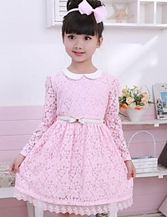 Girl's Doll Collar Long Sleeved Princess Dress