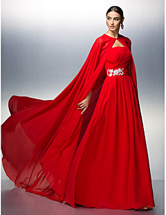 Prom/Formal Evening Dress - Ruby A-line Strapless Floor-length Chiffon