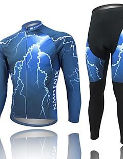 WEST BIKING® Calça com Camisa para Ciclismo Homens Manga Comprida MotoRespirável / Secagem Rápida / Design Anatômico / Tapete 3D / Tiras