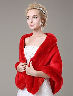 Shawls Fashion Faux Fur Casual/Special Occasion Shawl(More Colors)