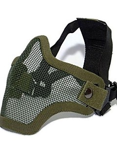 Tactical Equipment Paintball Strike Steel Half Face Mask for Airsoft (Two Belt Version)