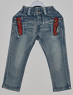Jeansy-Chłopca-Na każdy sezon-Jendolity kolor-Jeans