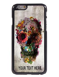 """crânio personalizado caso e flor caso design de metal para iphone 6 (4.7 """")"""