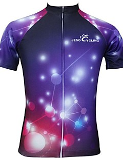 JESOCYCLING® Cycling Jersey Women's Short Sleeve Bike Breathable / Quick Dry Jersey / Tops Polyester Fashion Spring / Summer Cycling/Bike