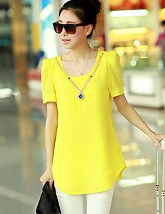 Women's Summer New Round Collar Puff Short Sleeve Loose T-shirt