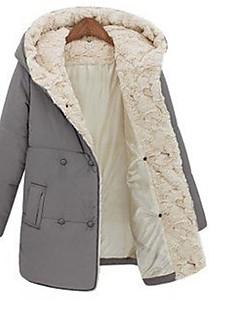 TNL 여성의 패션 긴 소매 까마귀 캐주얼면 코트