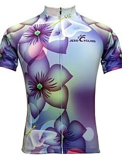 JESOCYCLING Cyklodres Dámské Krátké rukávy Jezdit na kole Dres Vrchní část oděvuRychleschnoucí Propustnost vůči vlhkosti Prodyšné Zadní