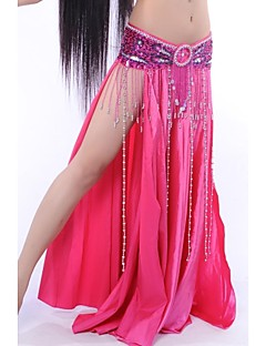 Belly Dance Skirts Women's Performance Elastic Silk-like Satin As Picture Flamenco / Belly Dance / Performance Natural