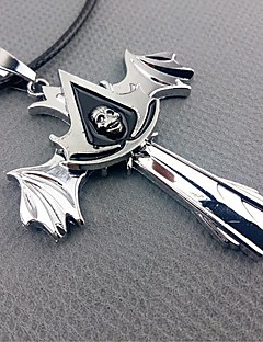 Jewelry Inspirirana Assassin Creed Cosplay Anime / Video Igre Cosplay Pribor Ogrlice Srebrna Alloy Male