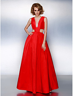 TS Couture® Prom / Formal Evening Dress Plus Size / Petite A-line V-neck Floor-length Taffeta with